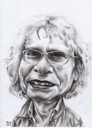 Cartoon: bookstore 04 (medium) by Joen Yunus tagged bookstore,portrait,caricature,charcoal