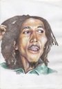 Cartoon: Robert Nesta Marley (small) by Joen Yunus tagged carricature,colored,pencil,rasta,marley