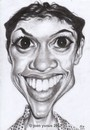 Cartoon: rosario dawson (small) by Joen Yunus tagged caricature,charcoal,celebrities,movie,actress,rosario