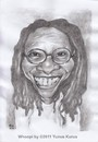 Cartoon: Whoopi Goldberg (small) by Joen Yunus tagged caricature,pencil,celebrities,movie,hollywood,actress,whoopi