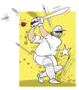 Cartoon: Cricketer (small) by drawgood tagged cricket,sport
