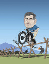 Cartoon: The Great Escape (small) by drawgood tagged politics,caricature,portrait,people,politician,gordon,brown