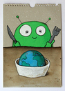 Cartoon: good morning (small) by stefan hoch tagged good,morning,breakfast,alien,earth,world,welt,frühstück
