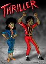 Cartoon: Thriller (small) by Neokoi tagged michael jackson thriller