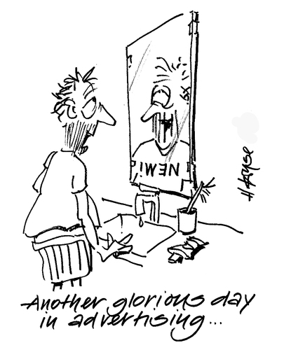 Cartoon: Another Glorious Day (medium) by helmutk tagged life