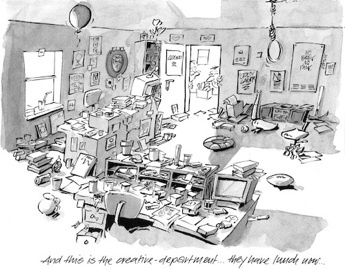 Cartoon: The Creative Department (medium) by helmutk tagged business