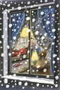 Cartoon: Christmas Card 99 (small) by helmutk tagged social,life