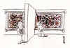 Cartoon: The Wall (small) by helmutk tagged art