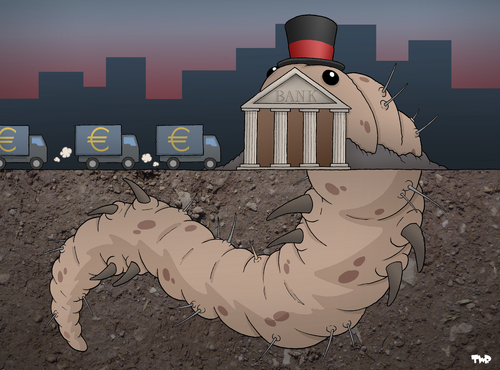 Cartoon: The Call of Cthulheuro (medium) by Tjeerd Royaards tagged lovecraft,crisis,money,euro,banks,bank,ecb,europe,eu,cyprus,cyprus,eu,europe,ecb,bank,banks,euro,money,crisis,lovecraft