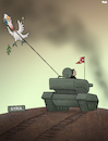 Cartoon: Bringing Peace (small) by Tjeerd Royaards tagged turkey kurds war syria tank erdoganm