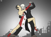 Cartoon: Dance with Death (small) by Tjeerd Royaards tagged syria,war,assad,death,dance,tango