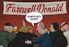 Cartoon: Farewell party (small) by Tjeerd Royaards tagged trump,putin,russia,usa,elections,defeat,democracy