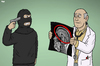 Cartoon: Head Check (small) by Tjeerd Royaards tagged pakistan,ubniversity,brain,knowledge,head,education,doctor,terrorim