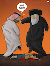Cartoon: Iran and Saudi Arabia (small) by Tjeerd Royaards tagged iran,saudi,arabia,yemen,attack,war