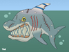 Cartoon: Mean old shark (small) by Tjeerd Royaards tagged israel,gaza,palestine,netanyahu,assoult,peace,war,violence