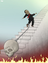 Cartoon: Robert Mugabe Dies (small) by Tjeerd Royaards tagged mugabe,zimbabwe,dictator,heaven,hell