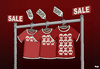 Cartoon: SALE (small) by Tjeerd Royaards tagged fashion,clothing,banladesh,workers,safety,profit,money,textile