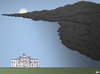 Cartoon: Shadow over the White House (small) by Tjeerd Royaards tagged trump,cloud,storm,primaries,elections,usa,white,house,shadow