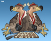 Cartoon: Vultures of the Press (small) by Tjeerd Royaards tagged haiti earthquake ethics press reporting suffering disaster hamnitarian human