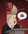 Cartoon: Where Trump Gets His Ideas (small) by Tjeerd Royaards tagged trump,devil,ideas,immigration,islam,donald