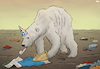 Cartoon: World Wildlife Day (small) by Tjeerd Royaards tagged polar,bear,nature,trash,world,climate,wild,life,ecology,animals