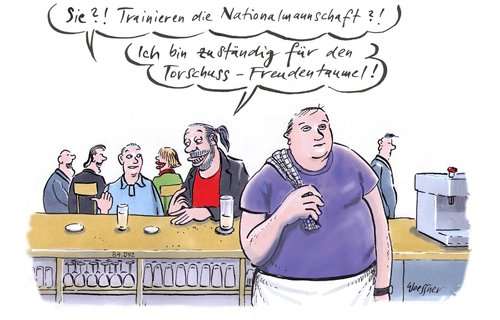 Cartoon: Torschuss Freudentaumel (medium) by woessner tagged torschuss,freudentaumel,fussball,trainer,choreographie,balett,event,showbussiness,showeinlage,freudentanz,sportveranstaltung,wm,europameisterschaft,torschuss,freudentaumel,fussball,trainer,choreographie,balett,event,showbussiness,showeinlage,freudentanz,sportveranstaltung,wm,europameisterschaft