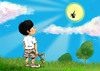 Cartoon: Uuupsss (small) by JARO tagged sun child summer