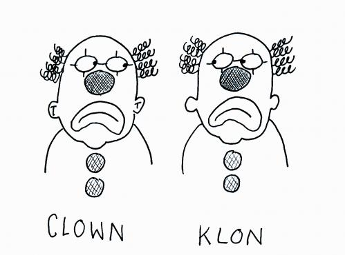 Cartoon: Clown und Klon (medium) by armella tagged clown,klon
