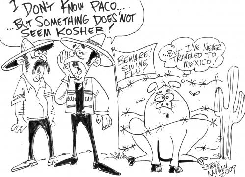 Cartoon: Swine Flu (medium) by Steve Nyman tagged swine,flu