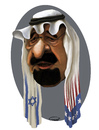 Cartoon: King Abdullah (small) by abbas goodarzi tagged arab,saudi,arabia,face,cartoons,political,israel,america,flag,middle,east,abbas,goodarzi,art,painting,digital,king,bahrain