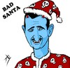 Cartoon: bad santa (small) by yaserabohamed tagged bashar,alassad