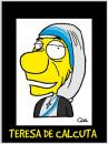 Cartoon: TERESA OF CALCUTTA CARICATURE (small) by QUEL tagged teresa of calcutta caricature