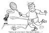 Cartoon: Anyone for tennis? (small) by VoBo tagged sport,tennis,ball,wimbledon,out,balls,game,set,match