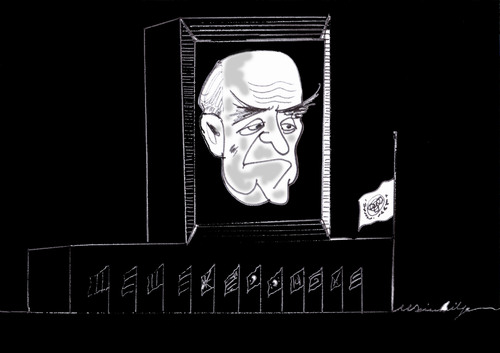 Cartoon: Oscar Niemeyer (medium) by MSB tagged oscar,niemeyer