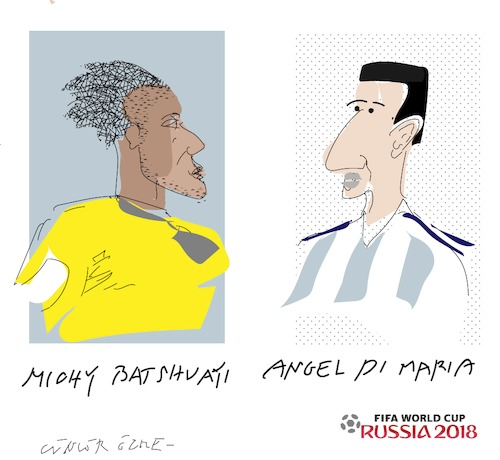 Cartoon: A.Di Maria and M.Batshuayi (medium) by gungor tagged world,cup