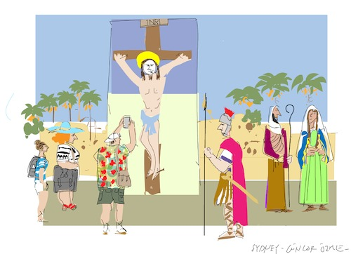 Cartoon: Biblical Disneyland (medium) by gungor tagged travel