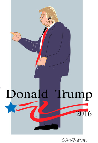Cartoon: Donald Trump (medium) by gungor tagged usa