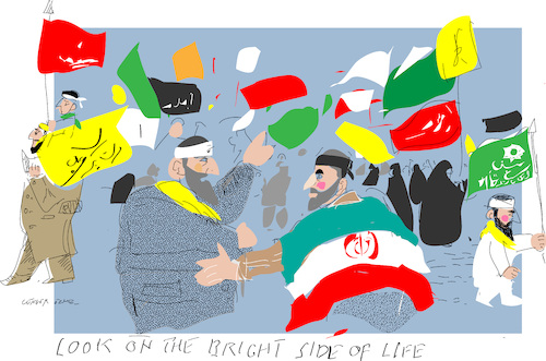 Cartoon: Funeral of General (medium) by gungor tagged iran,iran