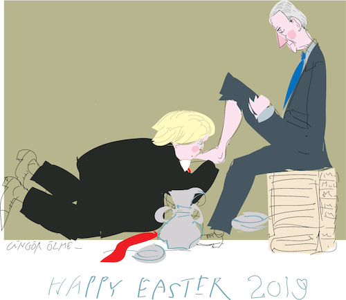 Cartoon: Happy Easter 2019 (medium) by gungor tagged usa,usa