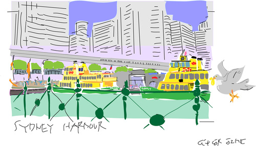 Cartoon: Harbour-3 (medium) by gungor tagged australia