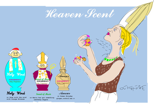 Cartoon: Holy Scent-2 (medium) by gungor tagged pope