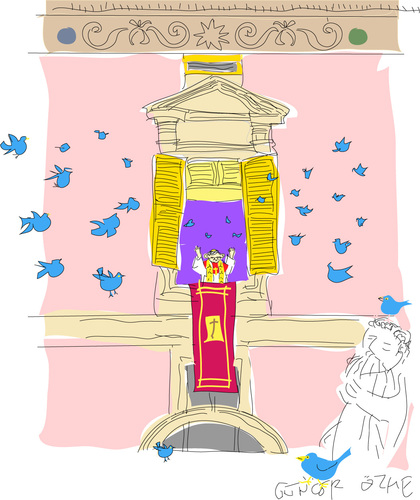 Cartoon: Holy Tweed (medium) by gungor tagged pope