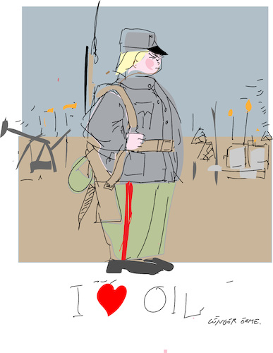 Cartoon: I love your oil (medium) by gungor tagged middle,east,middle,east