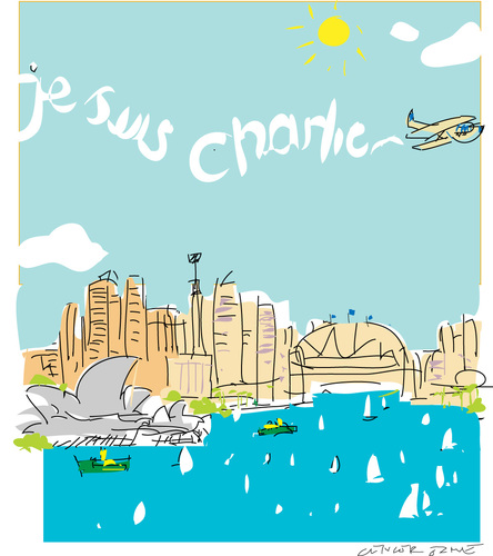 Cartoon: Sydney est Charlie (medium) by gungor tagged france