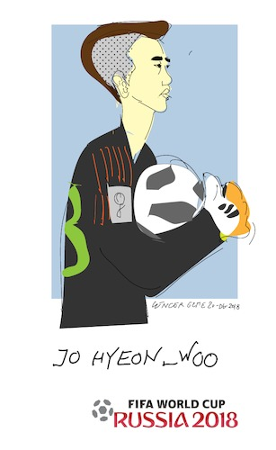 Cartoon: Jo Hyeon Woo (medium) by gungor tagged south,korea