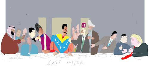 Cartoon: Last supper 10 (medium) by gungor tagged venezuela,venezuela