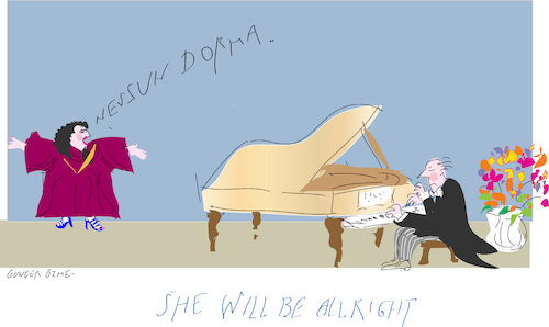 Cartoon: Nessun Dorma (medium) by gungor tagged opera,opera