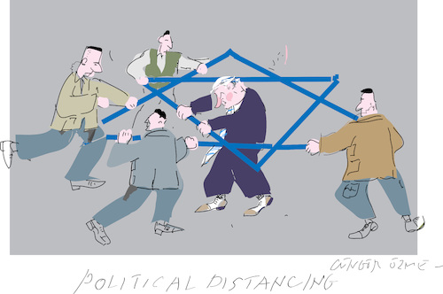 Cartoon: Political Distancing (medium) by gungor tagged israel,israel