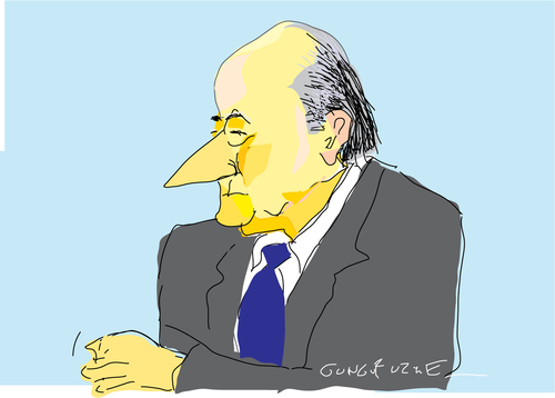 Cartoon: Sepp-3 (medium) by gungor tagged football