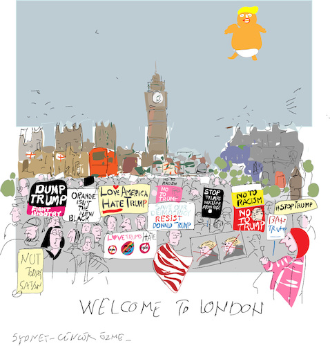 Cartoon: Visit to London 2018 (medium) by gungor tagged uk